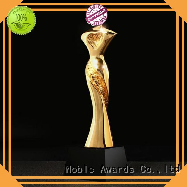 Noble Awards wholesale medals Resin trophies with Gift Box For Sport games