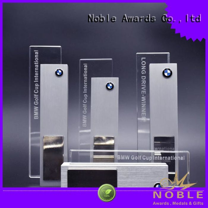 Noble Awards crystal Custom medal holder and trophies supplier For Gift
