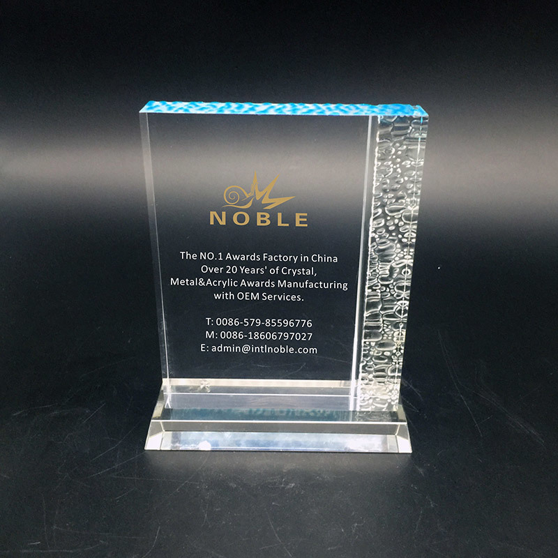 Custom Chipped Edge Corporate Acrylic Block Trophy Plaque Award