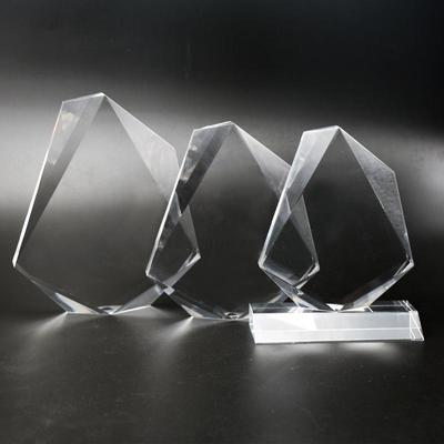 Jewel Shape Clear custom acrylic trophies