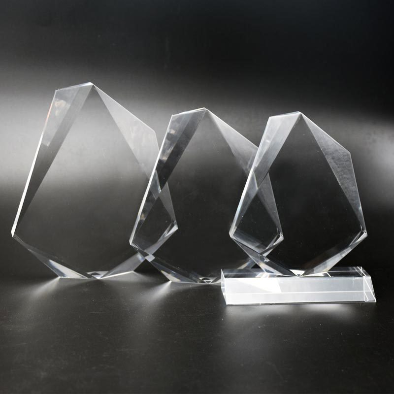 Jewel Shape Clear custom acrylic trophies