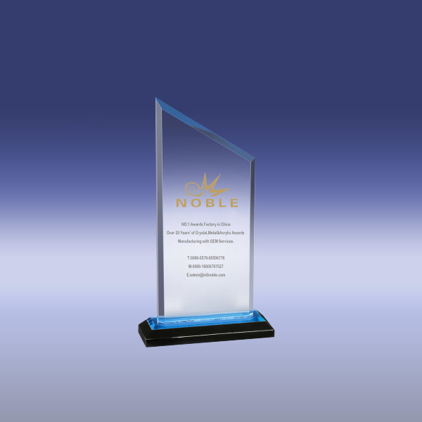 Custom made Blue Peak Reflection Acrylic Award