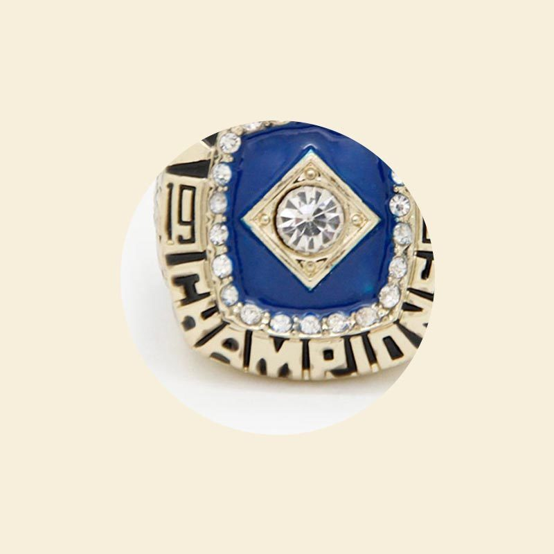 Noble Deluxe Gold Metal Engravable World Champion Ring For Sports