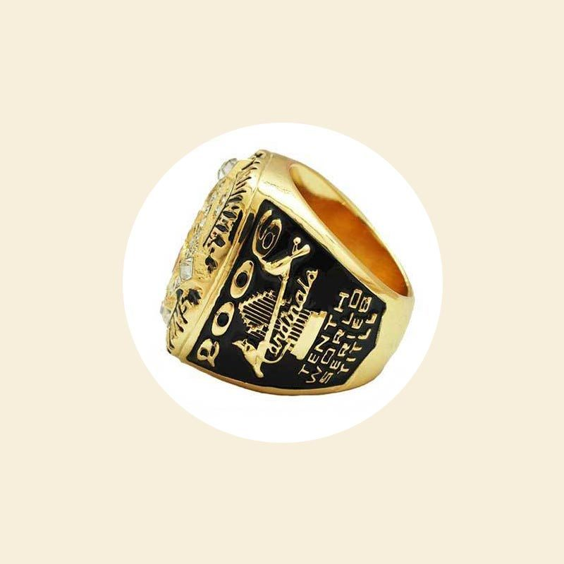 Noble Gold Metal Crystal Premiere Engravable Champion Ring