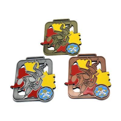 Noble 3D Engraved Logo Antique Gold Silver Bronze Metal Medal For Souvenir Gifts