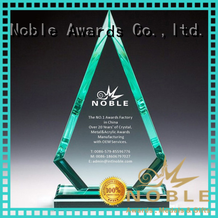Noble Awards cheap custom shape Custom made Clear Building Reflection Acrylic Award with Wood Base with Gift Box For Gift