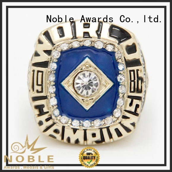 Noble Awards solid mesh Custom Champion rings no substance For Sport games