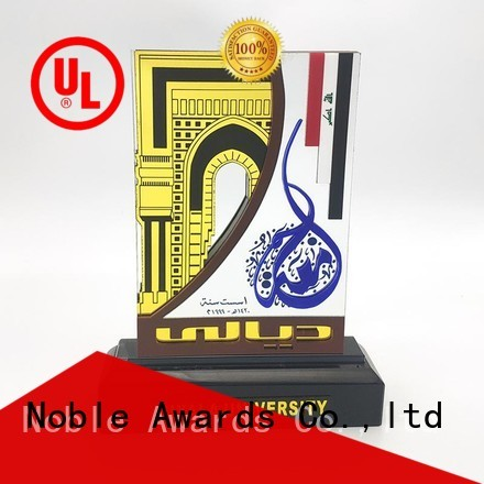 Noble Awards solid mesh acrylic awards wholesale with Gift Box For Sport games