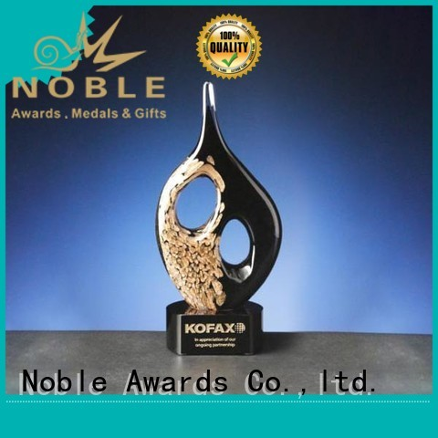 Noble Awards crystal Art glass trophies buy now For Sport games