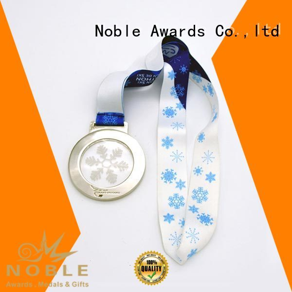 Customized Zinc Alloy Silver Medal With Red Ribbon Zinc Alloy For Awards Noble Awards