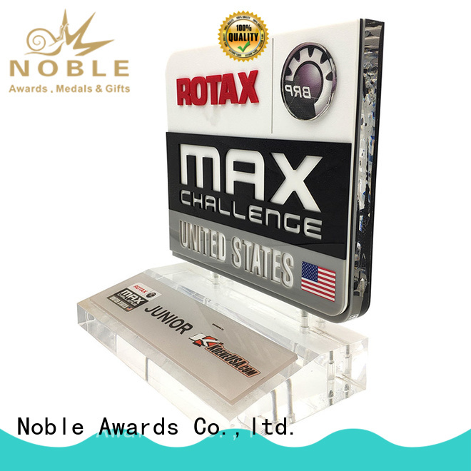 Custom made Clear Building Reflection Acrylic Award with Wood Base For Gift Noble Awards