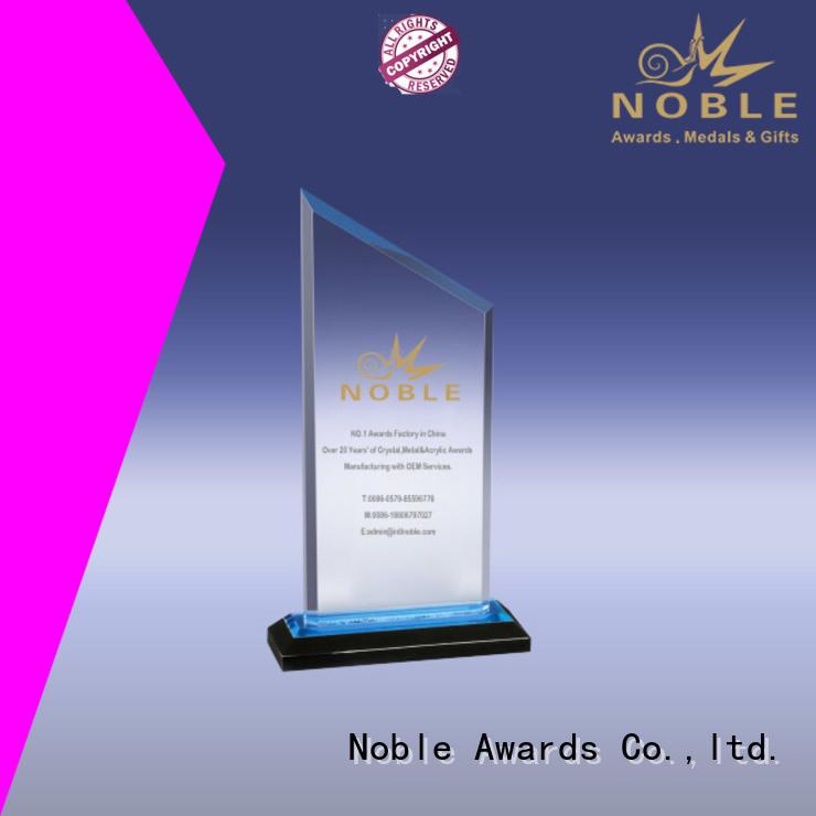 acrylic awards wholesale wood base For Sport games Noble Awards