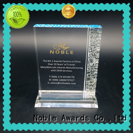 Noble Awards funky acrylic awards wholesale with Gift Box For Sport games