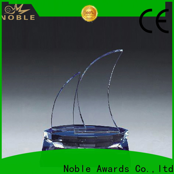 Noble Awards premium glass Blank Crystal Trophy for wholesale For Gift