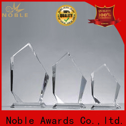 Noble Awards premium glass Blank Crystal Trophy ODM For Sport games