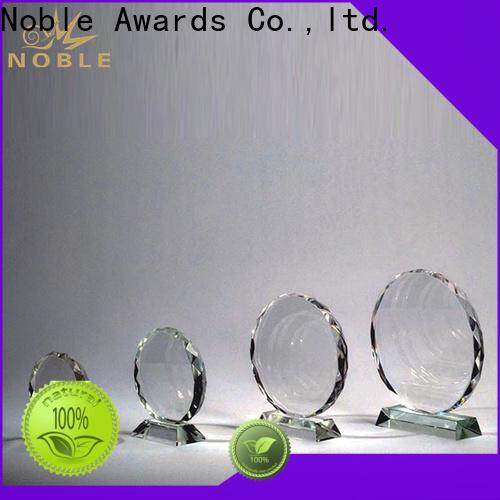 Noble Awards premium glass Crystal Trophy Award free sample For Awards