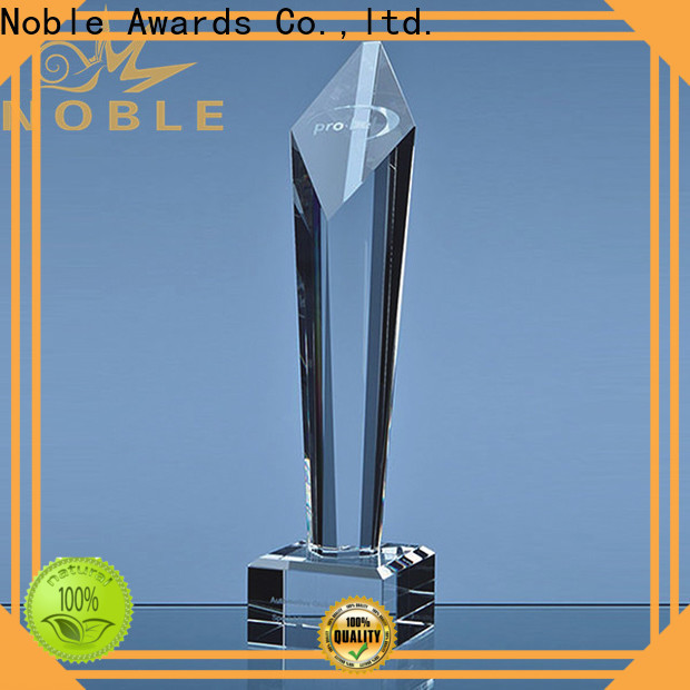 funky glass golf trophies premium glass OEM For Gift