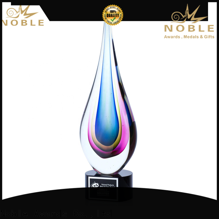 Noble Awards crystal art glass awards customization For Awards