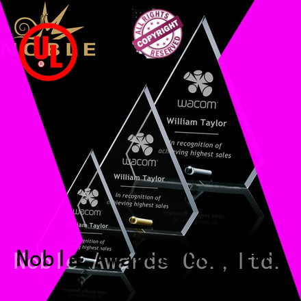 at discount glass trophy Transparent ODM For Sport games
