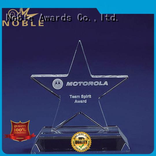 Noble Awards premium glass Crystal Trophy Award supplier For Awards