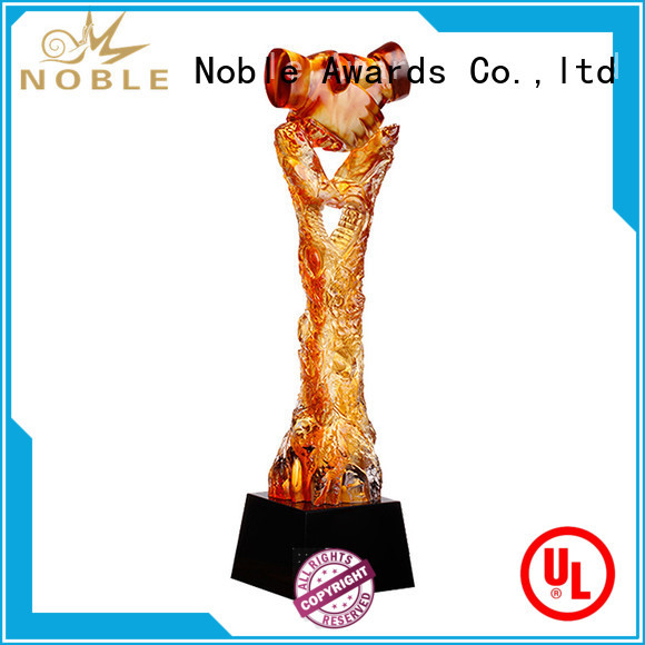 Noble Awards handcraft Liu Li trophies supplier For Gift