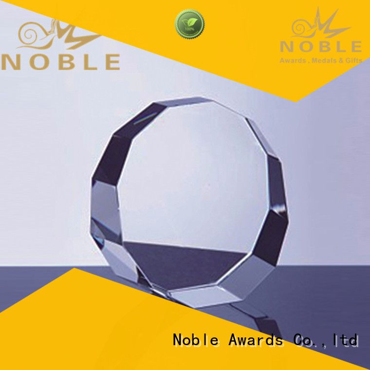 Noble Awards premium glass Blank Crystal Trophy supplier For Awards