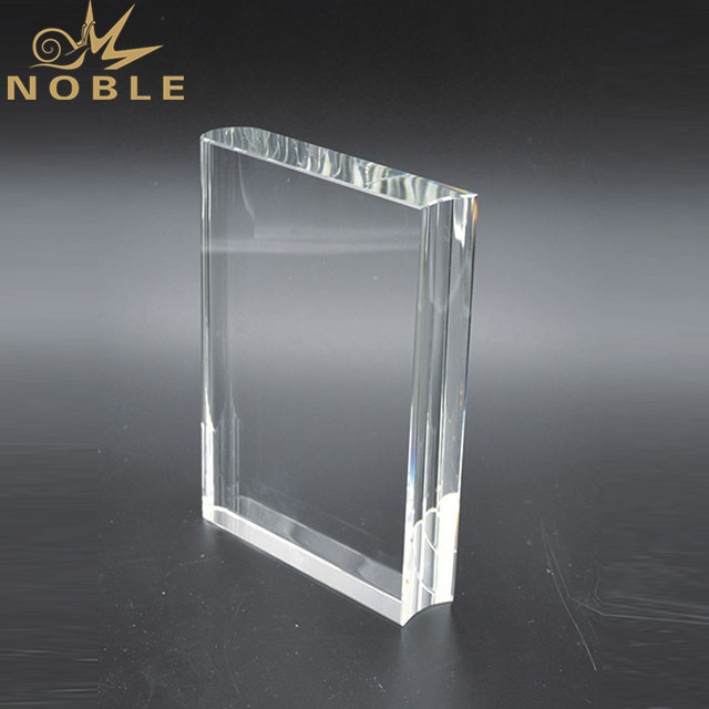 Crystal Book Shape Awards Plaque Crystal Paperweight