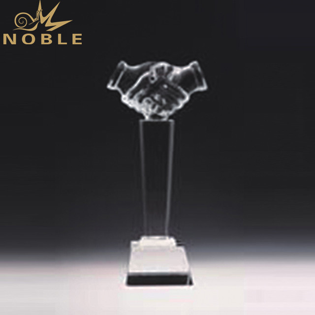 Shake Hands Crystal Trophy Business Award