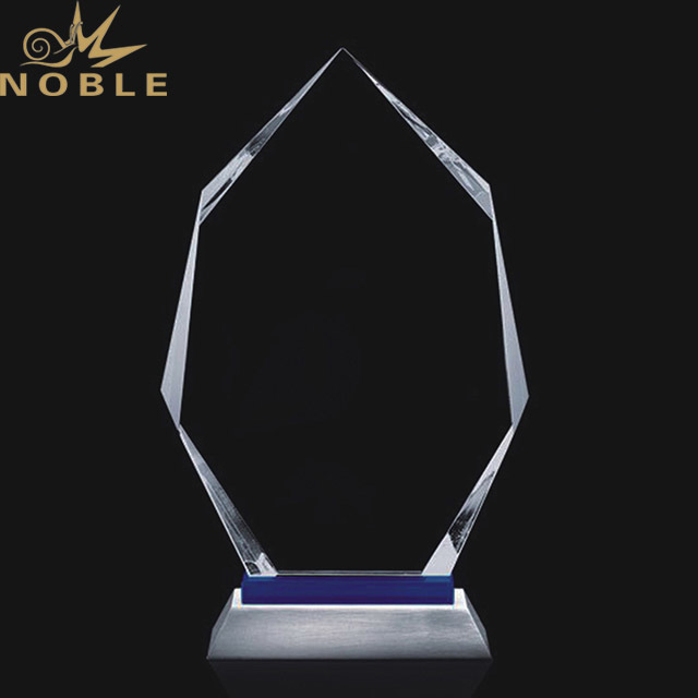 2019 Noble New Design Blue Print Cheap Crystal World Cup Trophy