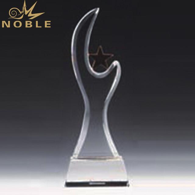 Manufacturer Star Shape Crystal Award Trophy
