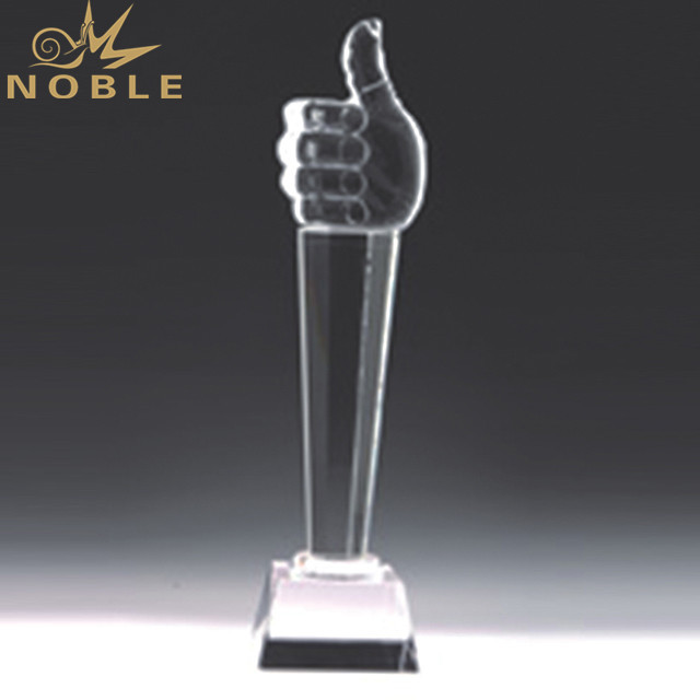 Wholesale Cheap Promotion K9 Material Crystal Thumb Trophy