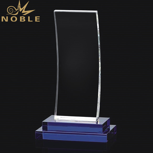 Transparent Rectangle Blank Crystal Trophy Award With Base