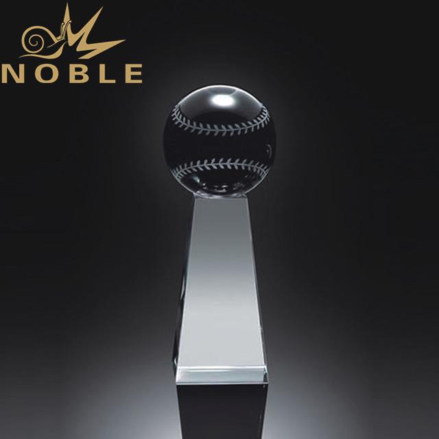 High quality custom engraving crystal baseball trophy