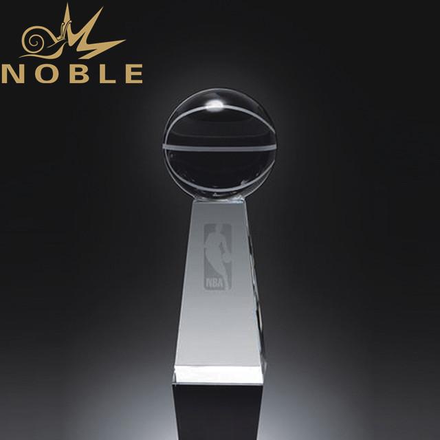 Custom Crystal basketball trophy