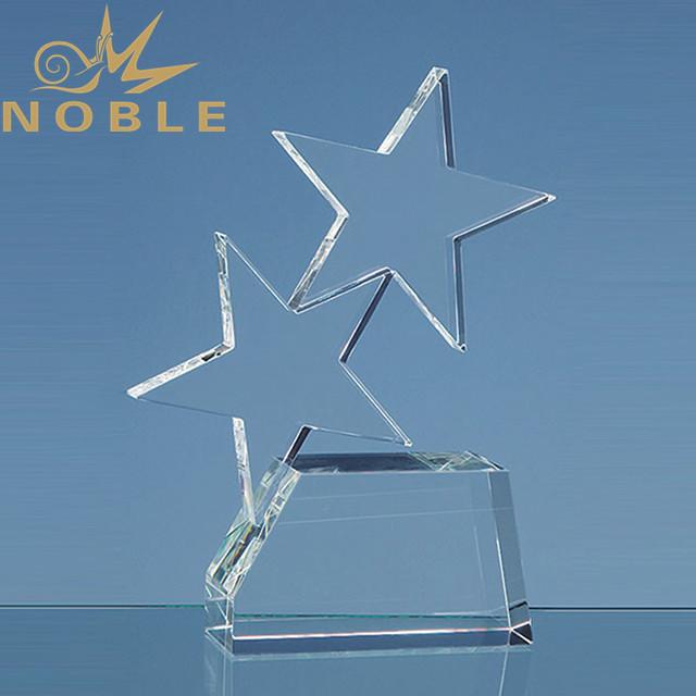Custom free engraving crystal star trophy