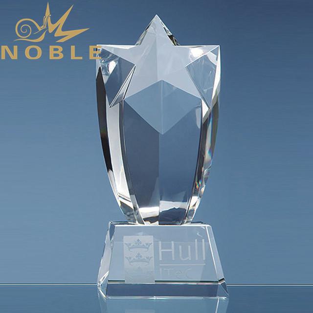Luxury high quality crystal star trophy