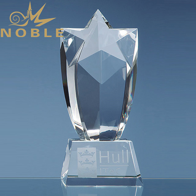 Luxury high quality crystal star trophy