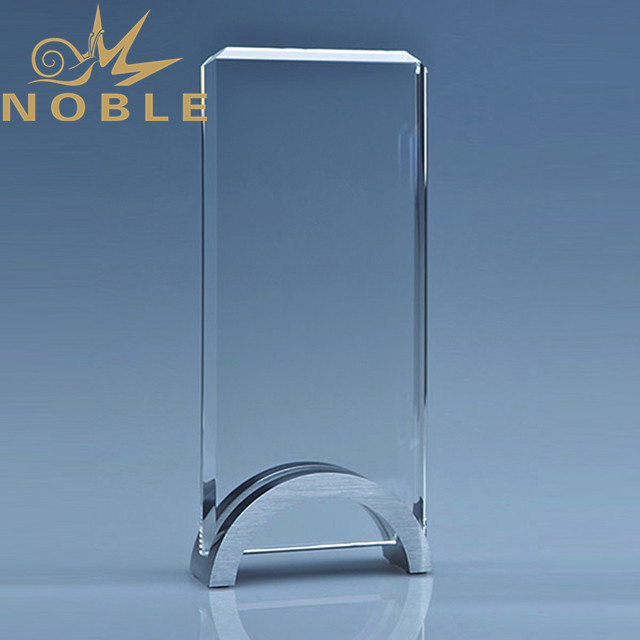High quality new design crystal blank plaque with metal base