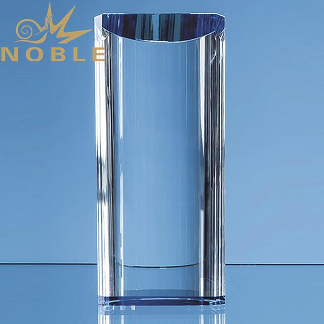 Custom engraving crystal column trophy