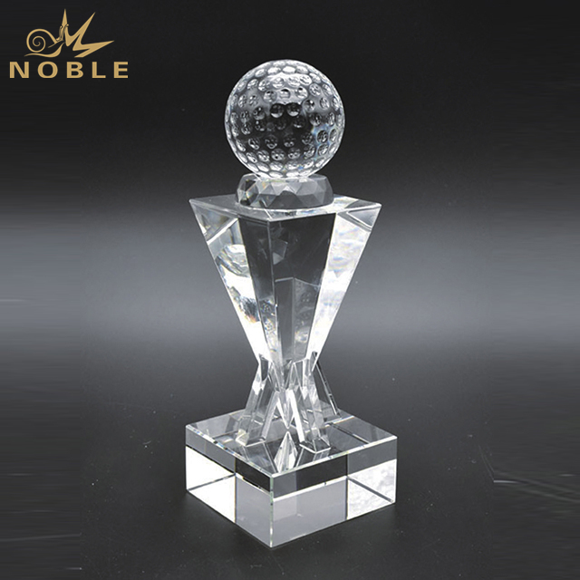 Customized Crystal Golf Trophy For Sports Souvenir