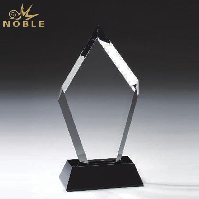 High Quality Blank Crystal Trophy On Black Base