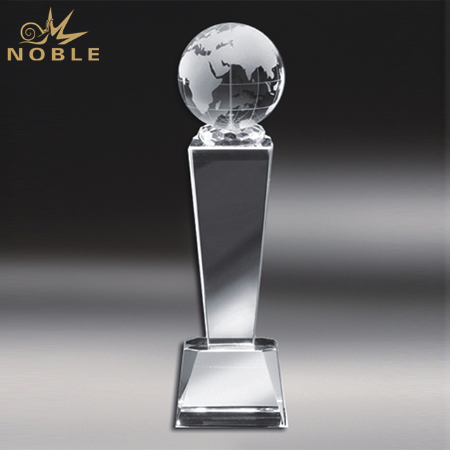 Popular Cheap Crystal Globe Trophy
