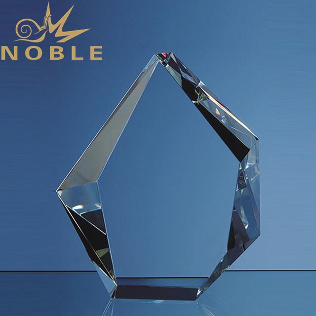 High quality custom engraving crystal block iceberg award