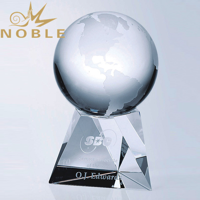 Custom Crystal Globe Trophy for sale