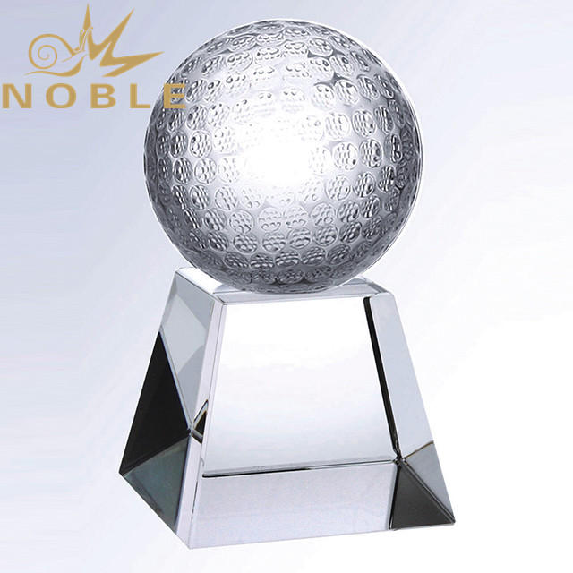 High Quality Sports Awards Crystal Golf Trophy