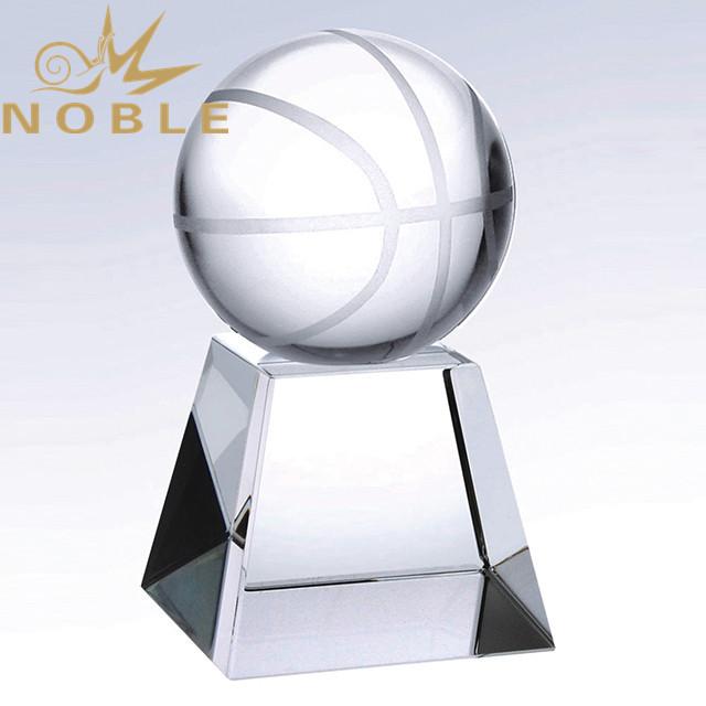 Custom Engraving Crystal Basketball Trophy