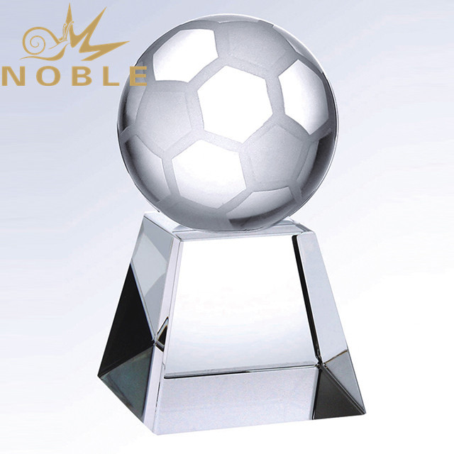 Noble High Quality Crystal Soccer Trophy