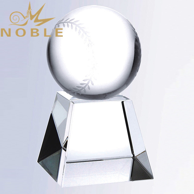 Noble Sports Trophy Crystal Baseball Award