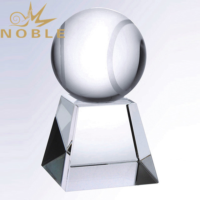Custom Sports Award Crystal Tennis Trophy