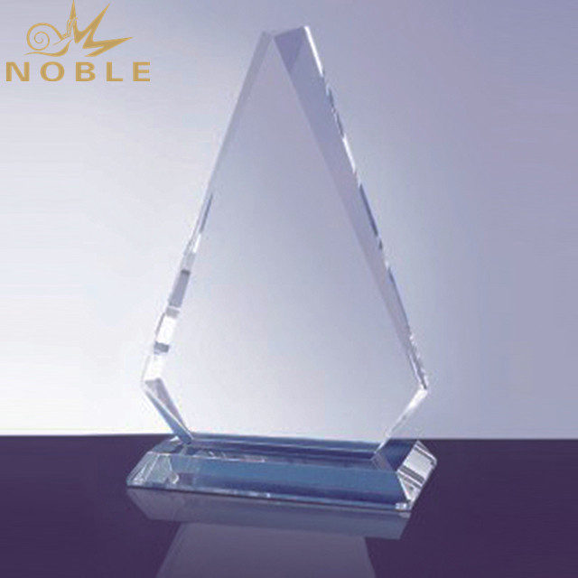 Shield Crystal Trophy Award With Base